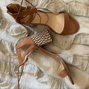 Short heel with boho detail never worn